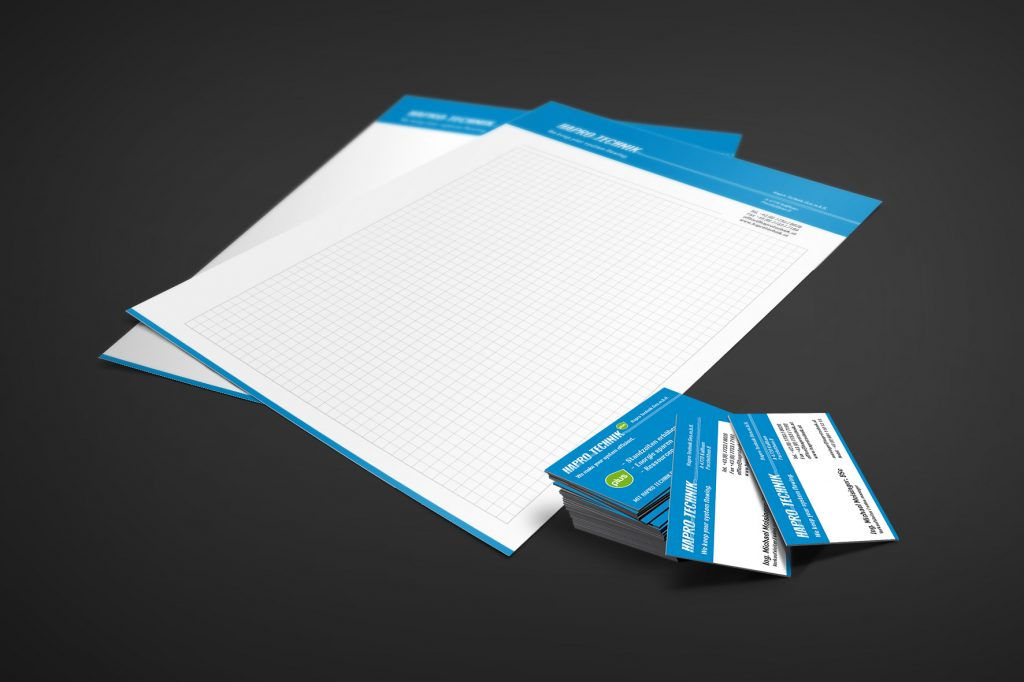 Corporate Identity Hapro Technik - Grafisches Buero