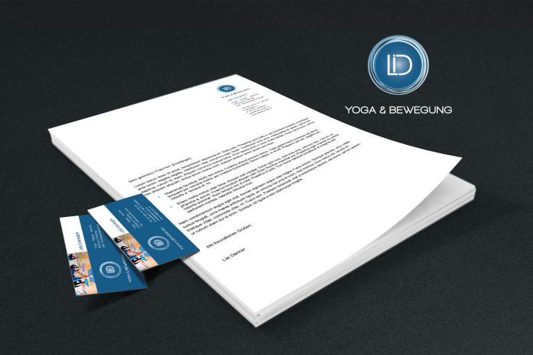 Corporate Identity Lisi Danner, Yoga und Bewegung - Grafisches Buero