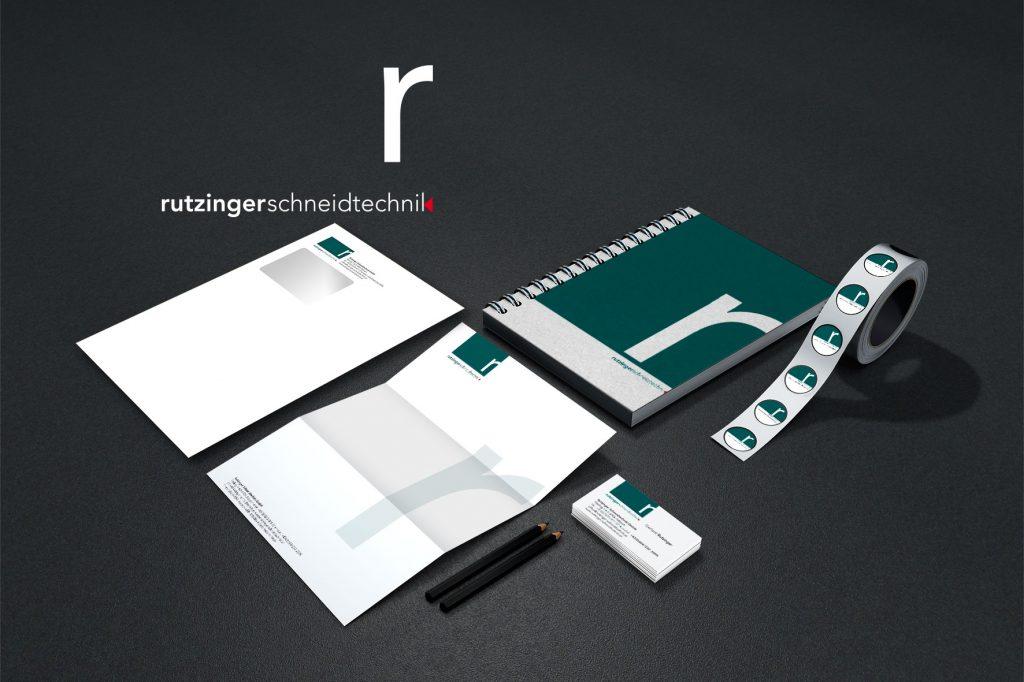 Corporate Identity Rutzinger Schneidtechnik - Grafisches Buero