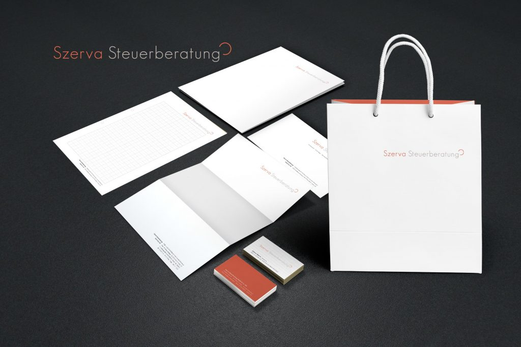 Corporate Identity Szerva Steuerberatung - Grafisches Buero