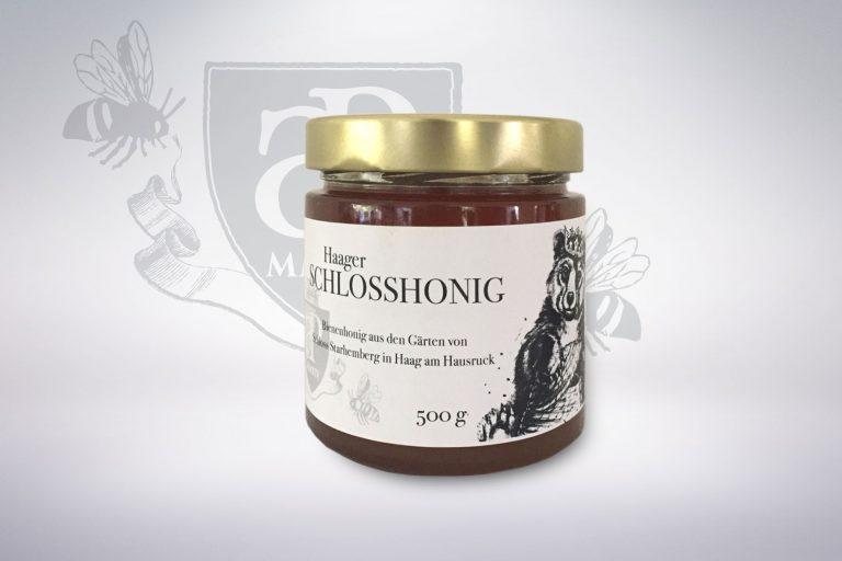 Honigetikett Schlosshonig - Grafisches Buero