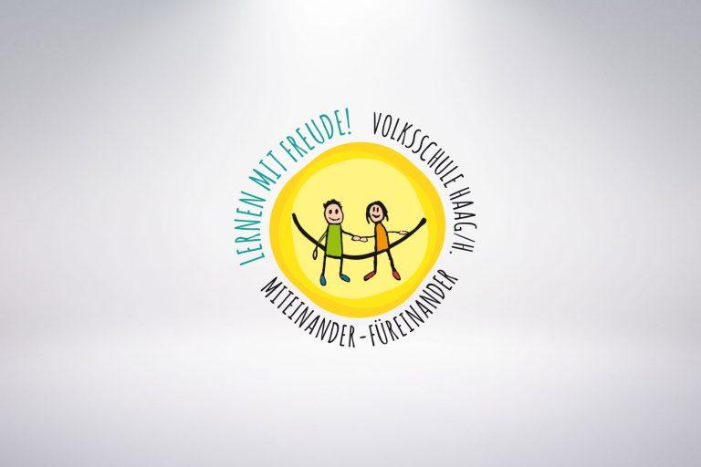 Logo Volksschule Haag/H. - Grafisches Buero