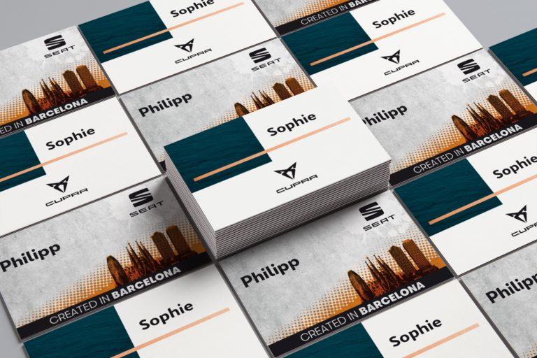 Namenskarten SEAT Cupra - Grafisches Buero