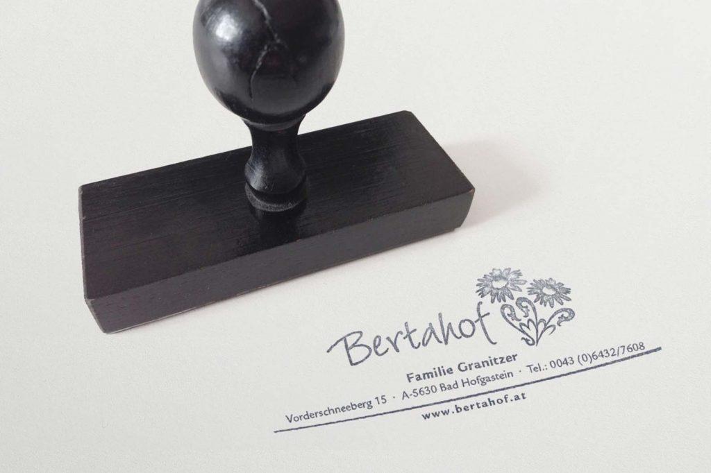Stempel Bertahof - Grafisches Buero