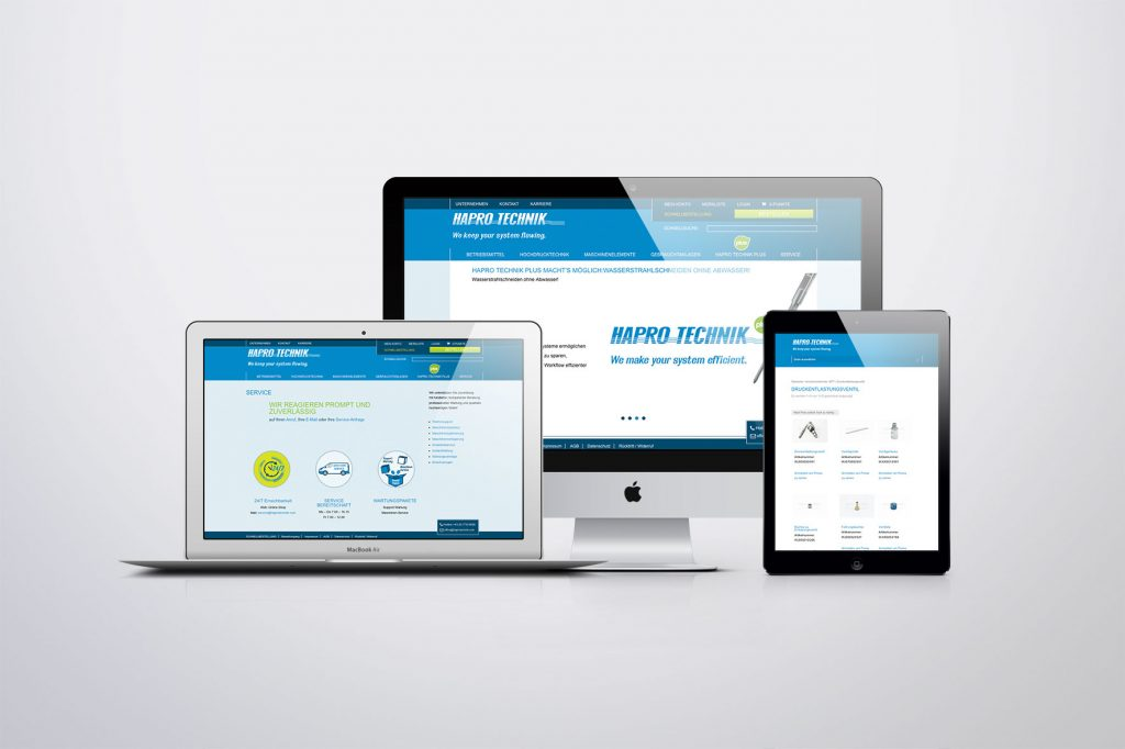 Webdesign Hapro Technik- Grafisches Buero