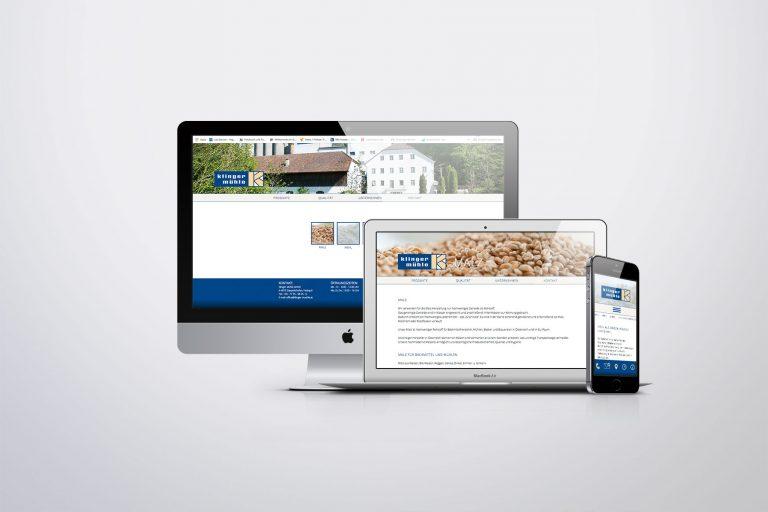 Webdesign Klinger Mühle - Grafisches Buero