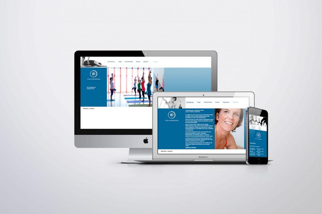 Webdesign Lisi Danner, Yoga und Bewegung - Grafisches Buero