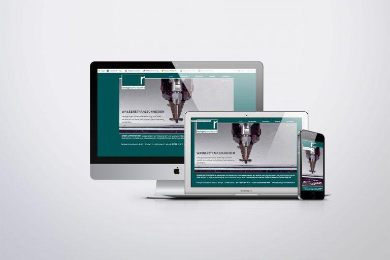 Webdesign Rutzinger Schneidtechnik - Grafisches Buero