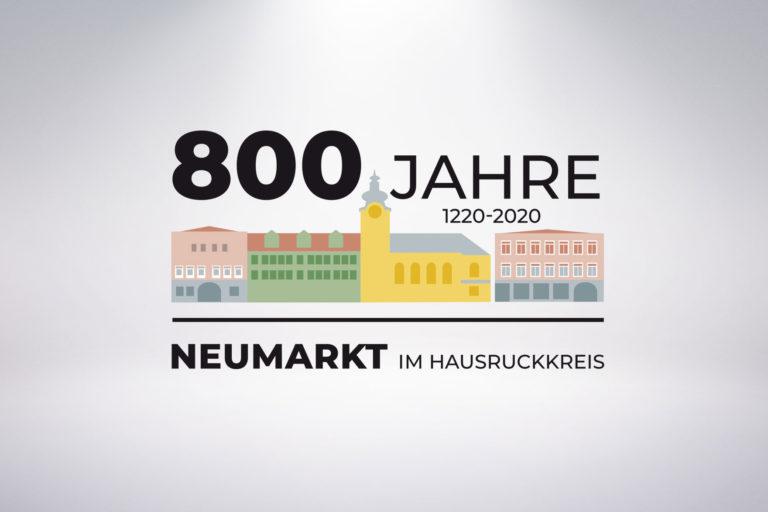 Neumarkt_Julilaeumslogo_800Jahre_Grafisches-Buero